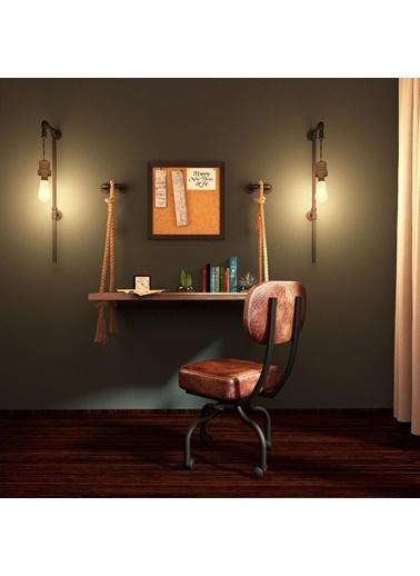 222 Concept Masif Ağaç Ceviz Renk 100x40 cm Çalışma Masası Renkli